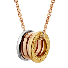 Bvlgari B.ZERO1 fake necklace 3-gold ring pendant