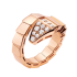 Bvlgari Serpenti Replik Ring Rosa gold Ring Gepflastert mit Diamanten