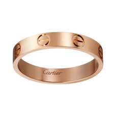 cartier copy love pink Gold ring narrow version for men and women