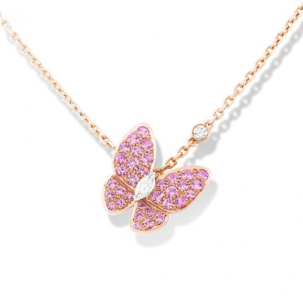 alhambra rotgold replika van cleef & arpels marquise-cut Diamanten anhänger