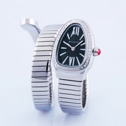 Bvlgari Serpenti Tubogas replique montre or blanc Hélice simple bracelet