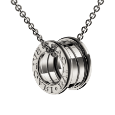 Bvlgari B.ZERO1 replica necklace white gold 4 band pendant