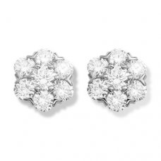 alhambra or blanc replique van cleef & arpels round Diamants boucles d'oreilles