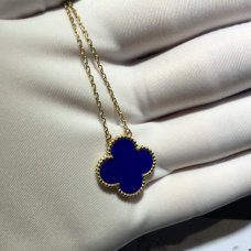 alhambra yellow gold replica van cleef & arpels blue pendant