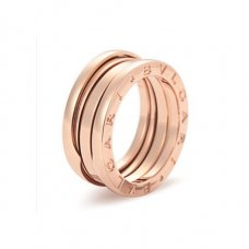 Bvlgari B.ZERO1 replica ring pink gold 3 band ring