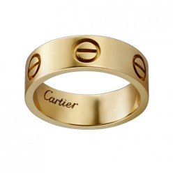 cartier replica love yellow gold ring wide version ring