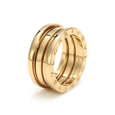 Bvlgari B.ZERO1 replica ring yellow gold 3 band ring