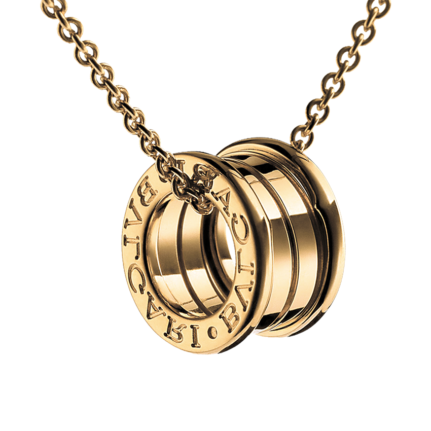 Bvlgari B.ZERO1 fake necklace yellow gold 4 band pendant