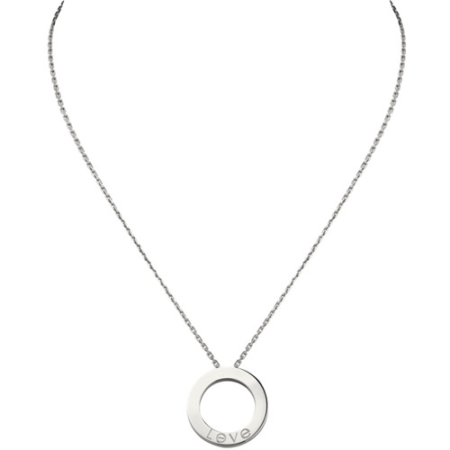 cartier faux love Collier or blanc Avec 6 diamants pendentif
