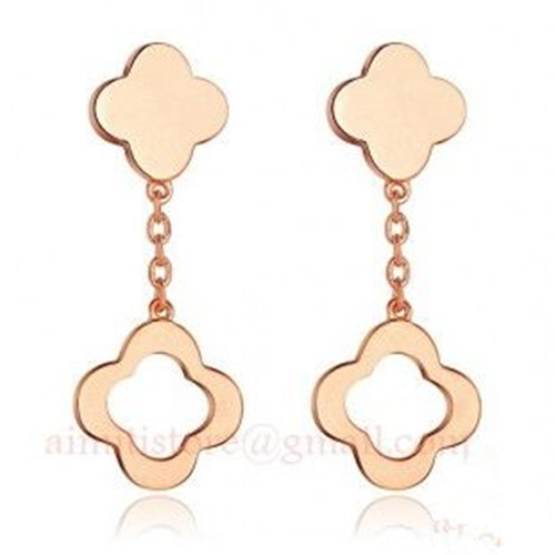 alhambra or jaune replique van cleef & arpels large model boucles d'oreille