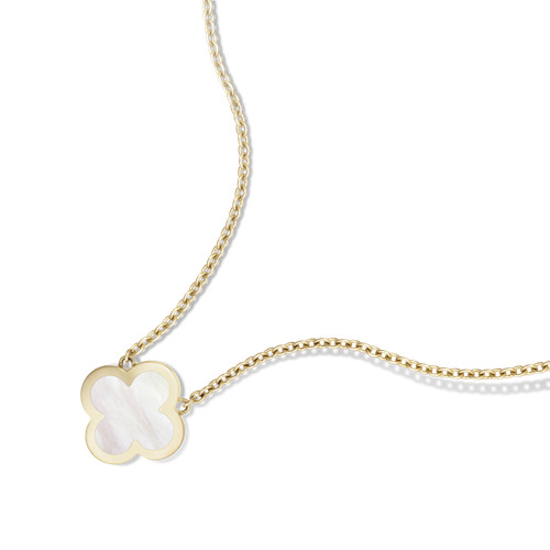 alhambra oro giallo replica van cleef & arpels white mother-of-pearl ciondolo