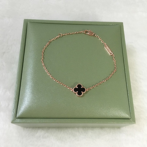 alhambra or rose replique van cleef & arpels malachite bracelet