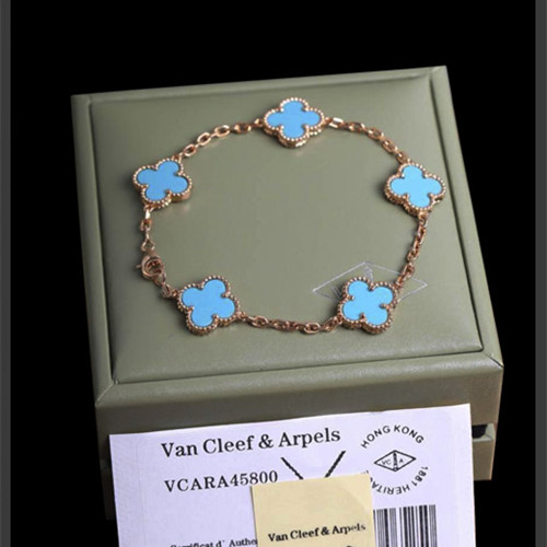 alhambra rotgold replika van cleef & arpels turquoise armband