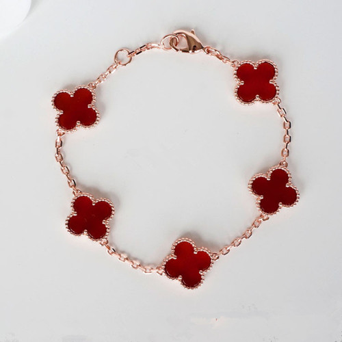 alhambra or rose replique van cleef & arpels carnelian bracelet