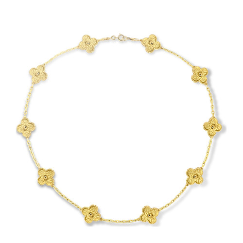 alhambra yellow gold replica van cleef & arpels vcaro1qj00 necklace