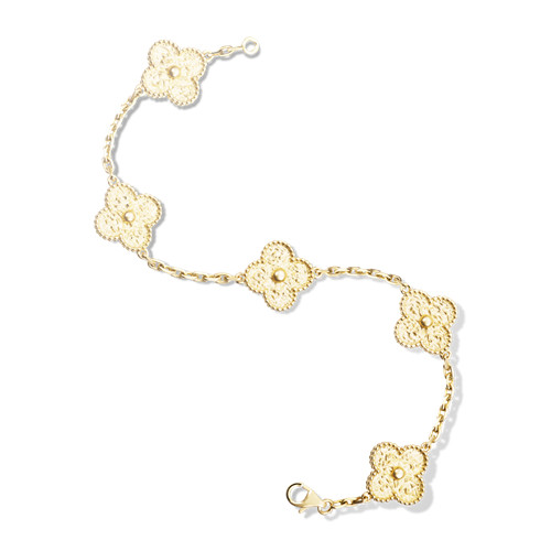 alhambra yellow gold replica van cleef & arpels bracelet