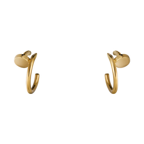 cartier copy juste un clou earring steel yellow gold B8301235