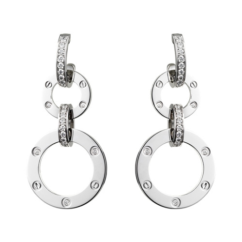 cartier replique love or blanc diamant boucle d'oreille N8049000