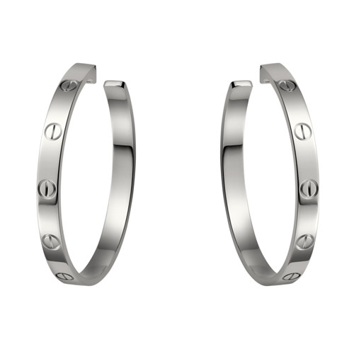 cartier faux love or blanc Conception de vis boucle d'oreille B8022800