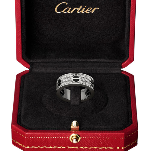 cartier fake love ring white gold covered diamond wide version