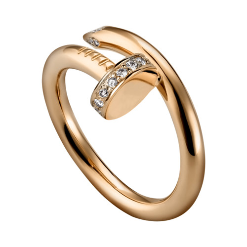 cartier pink gold juste un clou ring diamond copy B4094800