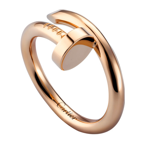 cartier replika Juste un clou Ring Vernickelt real Rosa gold B4092500