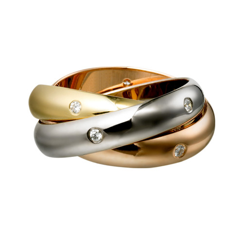 trinity de Cartier Replik 3-gold Ring Mosaik- Diamant B4038800