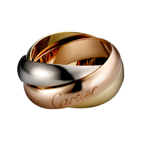 trinity de Cartier copy 3-gold ring titanium steel large models B4052800