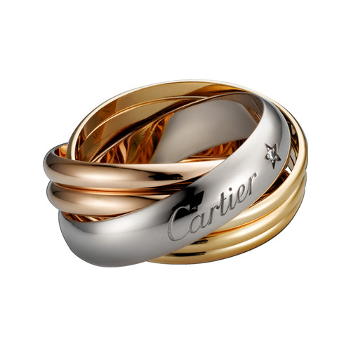 trinity de Cartier Replik 3-gold Ring Mosaik- 1 diamant B4088300