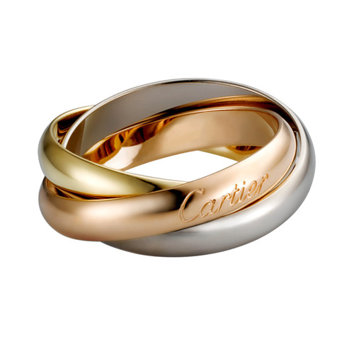 trinity de Cartier fake 3-gold ring titanium steel medium models B4052700
