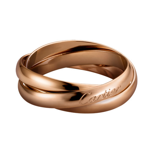 trinity de Cartier replica pink gold ring titanium steel small models B4218800
