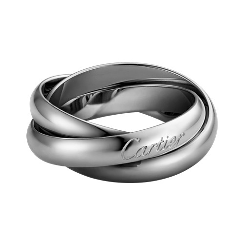 trinity de Cartier replica white gold ring titanium steel medium models B4218600
