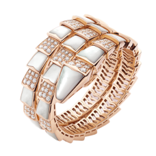 Bvlgari Serpenti replica Bracelet pink gold with mother of pearl and diamonds
