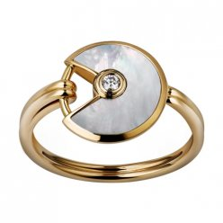 amulette de cartier replique or jaune bague Nacre blanche diamant B4213300