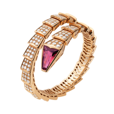 Bvlgari Serpenti replica Bracelet pink gold with rubellite head with diamonds