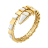 Bvlgari Serpenti replica Bracelet yellow gold Single helix with mother of pearl