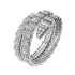 Bvlgari Serpenti fake Bracelet white gold Double helix Covered with diamonds
